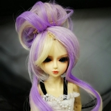 BJD Doll Wig Heat Resistant Up-do Lavender & Gold Mixed