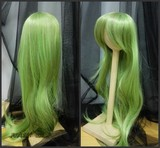 BJD doll wig CC green long body wave