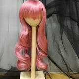 BJD doll wig 8-9 Smoke Pink Big Waves