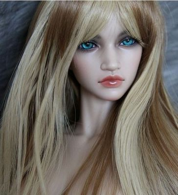 BJD Doll Wig 8-9 Heat Resistant Deep Gold & Light Gold Mixed