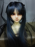 BJD Doll Wig 8-9 Miku Black Blue