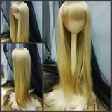 BJD Doll Wig 8-9 Long Straight Sandy Brown