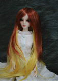 BJD Doll Wig 8-9 Long Natural Wavy Multi Color