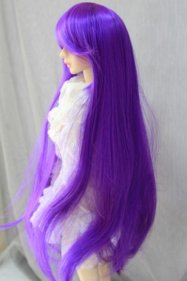 BJD Doll Wig 8-9 Long Purple