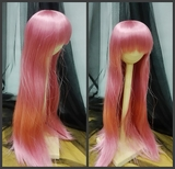 BJD Doll Wig 8-9 Long Straight Smoke Pink