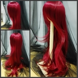 BJD Doll Wig 8-9 Natural Wavy Long Wine Red