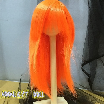 BJD Doll Wig 8-9 Bright Orange