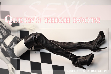 BJD Doll Thigh High Boots -- for 68cm ~73cm uncle (boy)  cut off date: May 20, 2019