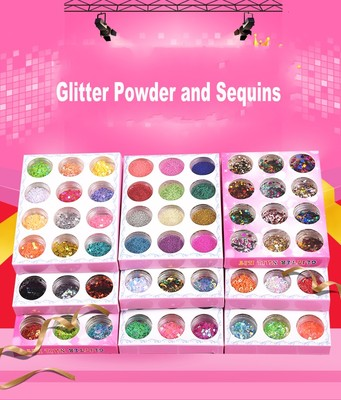 12 Bottles Mixed Glitter Power Sequins