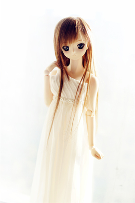 BJD white chiffon long dress 1/3 1/4 DD